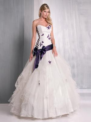 Robe mariee blanche et couleur