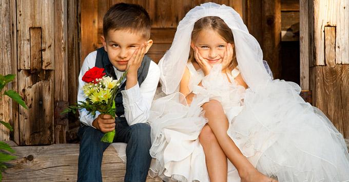 mariage robe enfant