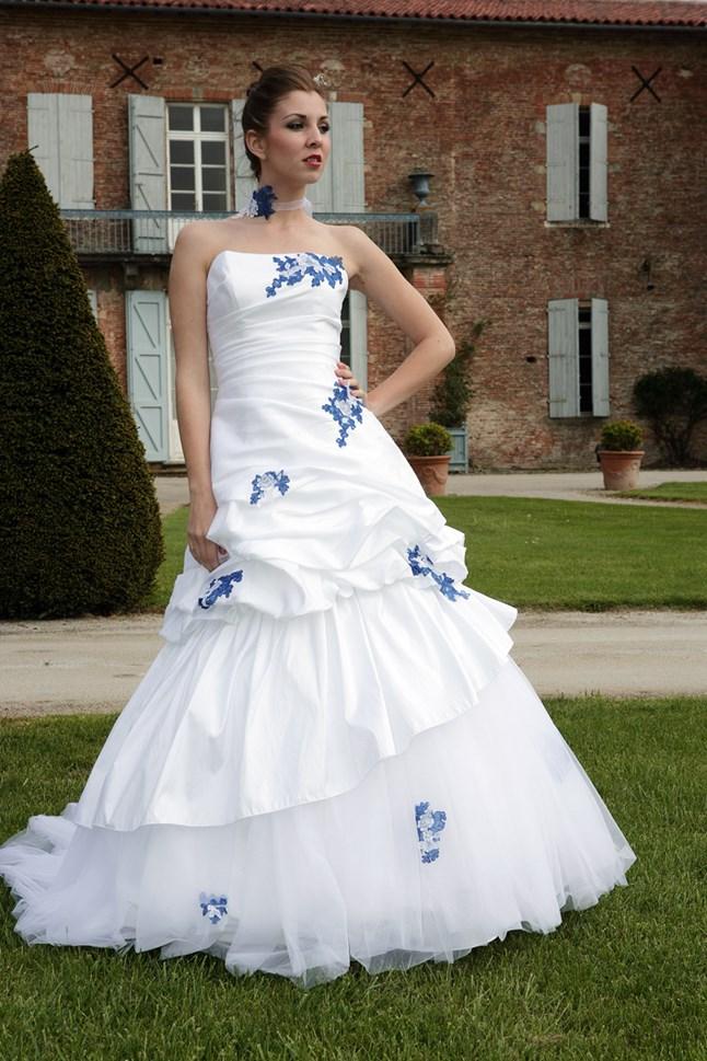 primanovia calisson bleu et blanc sur le site du mariage. Black Bedroom Furniture Sets. Home Design Ideas
