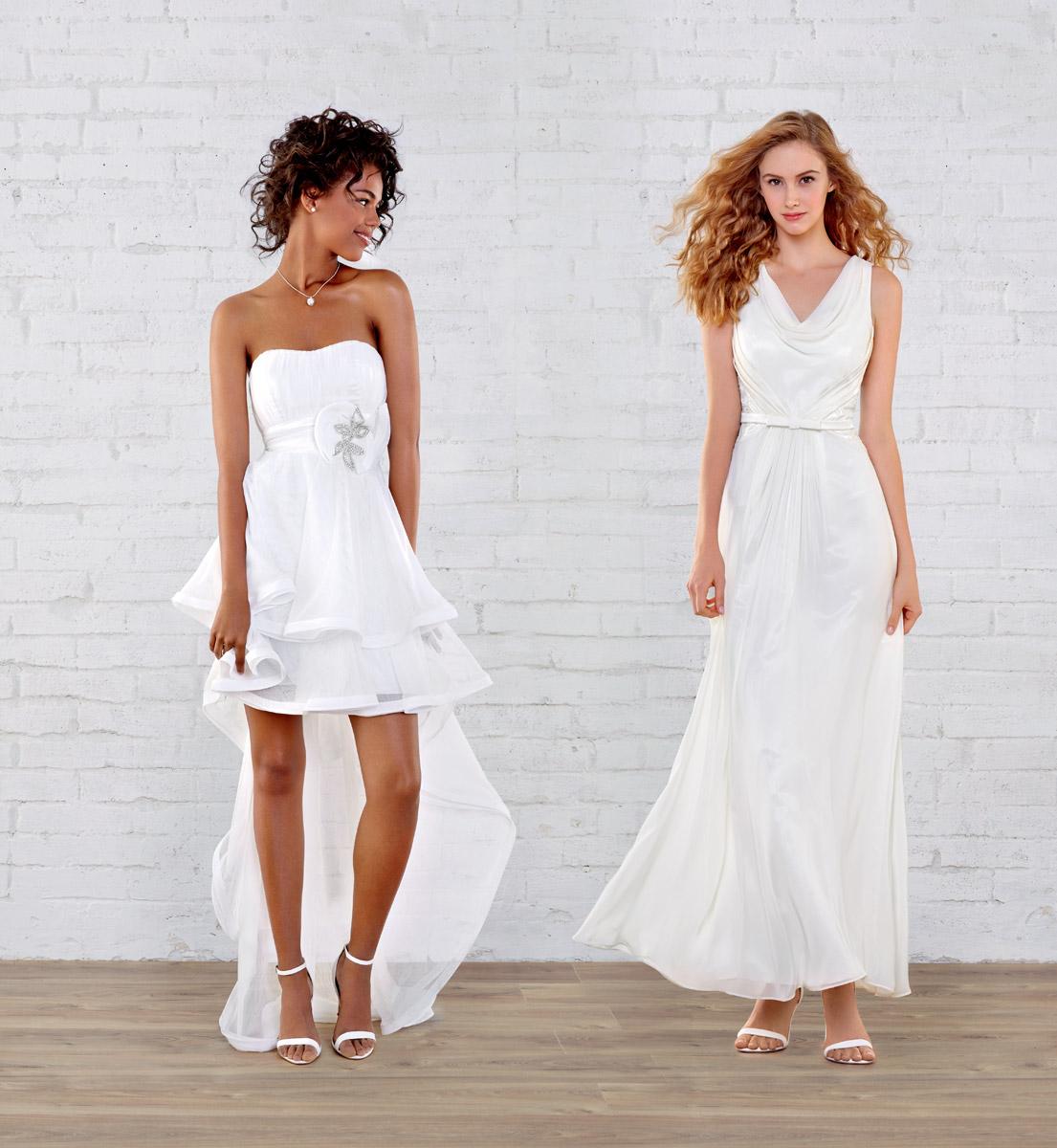 Robe de mariee noir et blanche tati